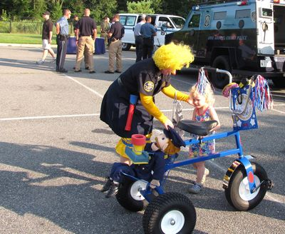 The police clown had cop-trike this year.