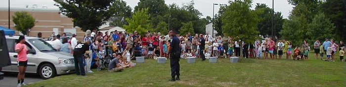 Crowd for police dog demonstrations