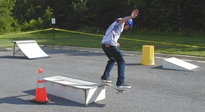Skateboarding demonstration