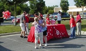 Target provided food, freebees and workers