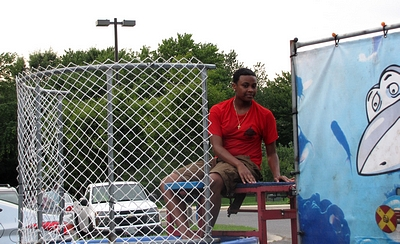 The brave person that got dunked