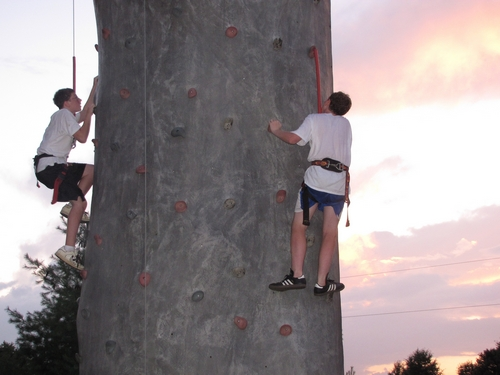 Climbing in the Sunset