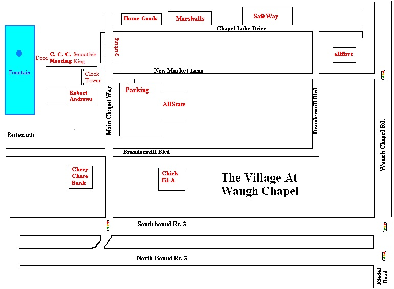Sketch Map of The Village at Waugh Chapel